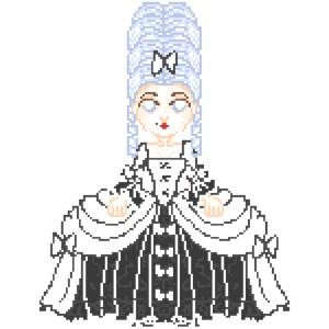 Dark Marie Antoinette Pixel Art