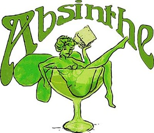 Absinthe Green Fairy In Glass