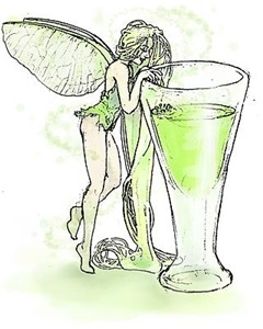 Absinthe Fairy Toying With Glass