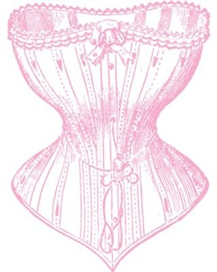 Pink Vintage Victorian Corset