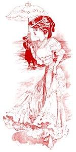 Edwardian Lady With Parasol