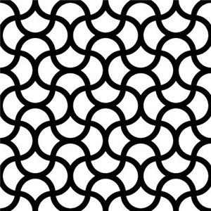 Wavy Scale Pattern Black White