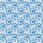 Chinese Dragon Pattern Blue