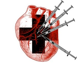 Medical Needle Stabbed Heart