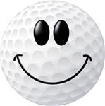 Golf Ball Smiley Face
