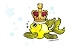 Crown Fish - funny cute royal monarch cartoon