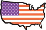 USA Flag Map T-Shirts