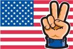 USA Peace Flag T-Shirts