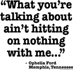 Ophelia Ford - Ain't hitting on me