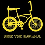 Ride the Banana bicycle t-shirt brings back all those retro memories that we tried to forget.