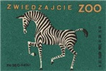 Zebra Matchbox Label II