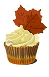 Autumn leaf cupcake