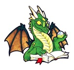 NEW: Green Bookdragon