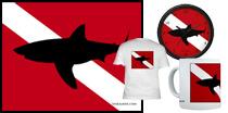 Great White Shark Dive Flag