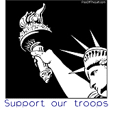 Support our Troops - Statue of Liberty
