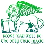 Books may well be the only true magic.  A fun design with a Sphinx resting its front paw on a book.  Show your love for reading and release the inner book geek in you with this magical design. 