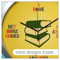 Avid Reader Wall Clocks