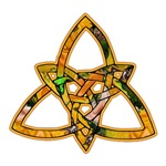 Gold Stained Glass Triquetra
