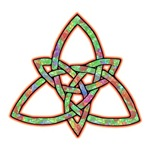 Green Stained Glass Triquetra