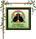 Pentagram and Black Cat Designs