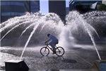 Cyclist Fountain