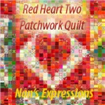 Red Heart Patchwork Love Quilt