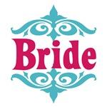 Bride: Moroccan (Tiffany Blue and Fuschia)
