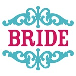 Bride (Hot Pink and Tiffany Blue)