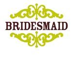 Bridesmaid (Chocolate Brown and Lime)
