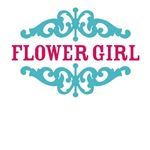 Flower Girl (Hot Pink and Tiffany Blue)