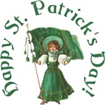 Click Here For Irish Girl With Flag