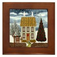 Christmas Framed Ceramic Wall Tiles