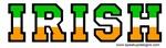 Irish Green White Orange