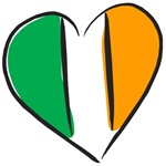 Irish Heart Ireland Flag T-Shirts