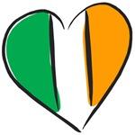 Irish Heart Ireland Flag