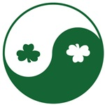 Irish Yin Yang Shamrocks