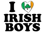 I Love Irish Boys Heart T-Shirts