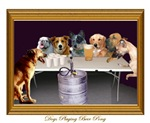 Dogs Playing Beer Pong