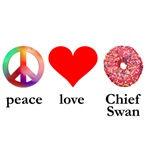 peace love chief swan