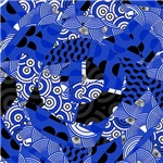 Cobalt Blue Circles Abstract Pattern