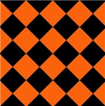 Sports Team Uniform Colors Orange Black Argyle