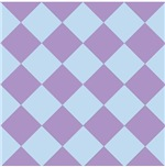 Harlequin Diamond Argyle Pattern Pastel Purple Blu