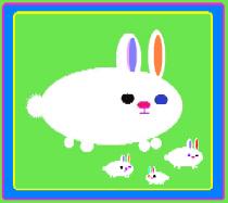 Cute Fluffy Rabbit & Bunny Babies
