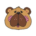 Silly Country Style Brown Bear Face