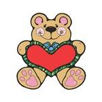 Valentine's Country Teddy Bear