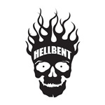 Hell Bent Flaming Skull