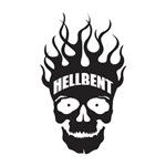 Hell Bent Flaming Skull