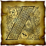 Celtic Knotwork Letter A