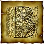 Celtic Knotwork Letter B