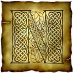 Celtic Knotwork Letter N